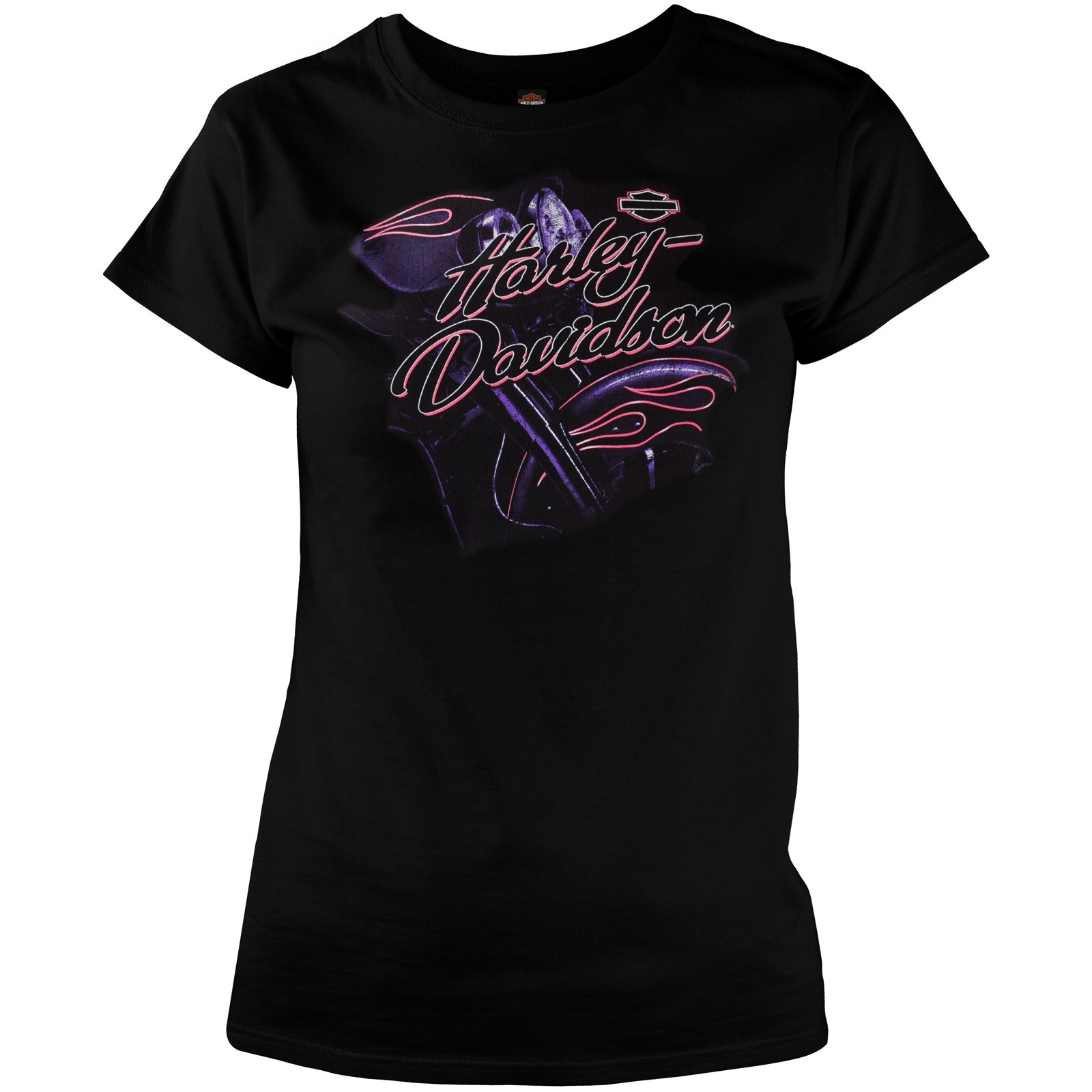 Harley-Davidson Women's Black Crewneck Graphic T-Shirt - Baghdad, Iraq | Abstract
