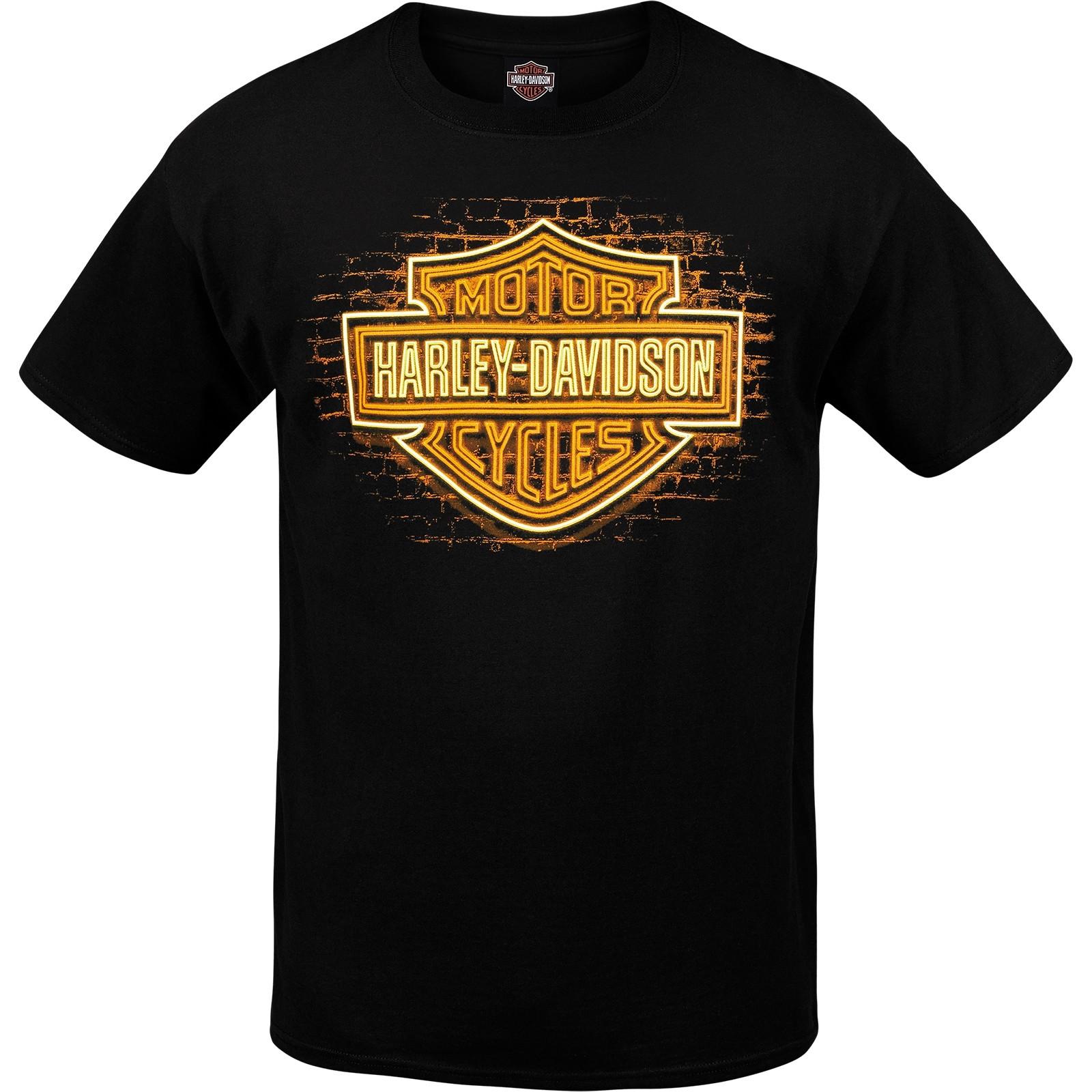 Harley-Davidson Men's Graphic Bar and Shield T-Shirt - USAG Wiesbaden | BS Neon