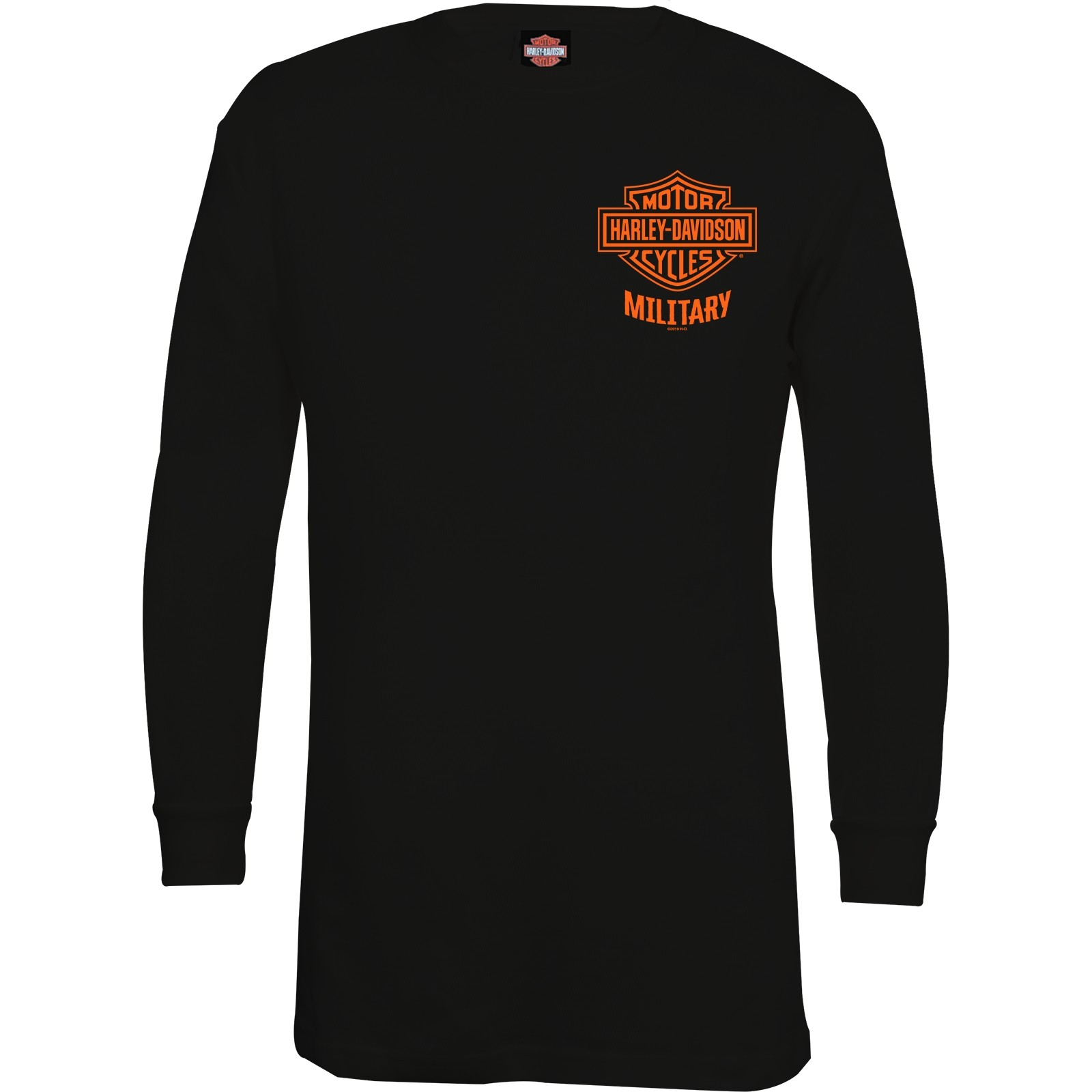 Men's Black Bar & Shield Long-Sleeve Graphic Thermal Shirt - Overseas Tour