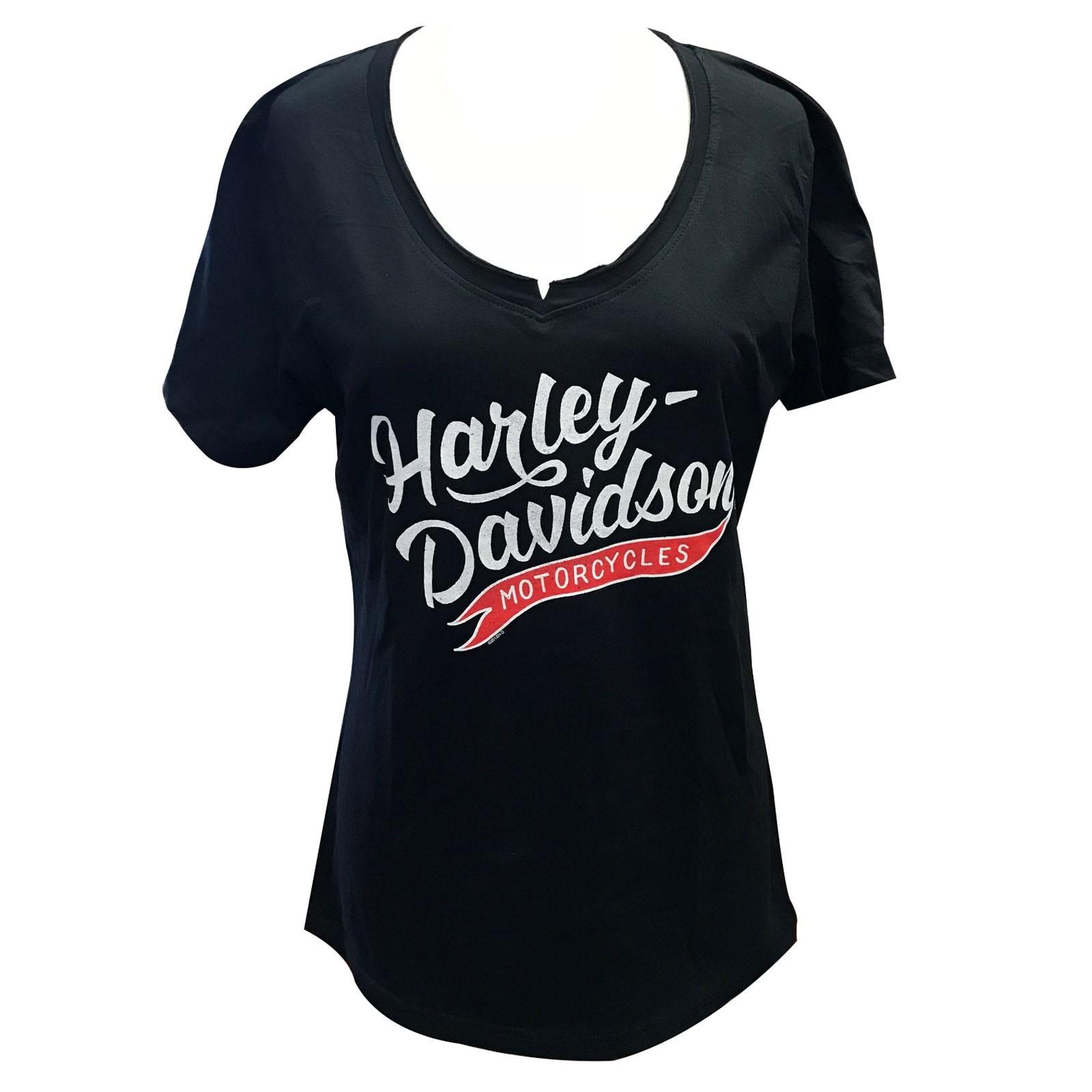 Harley-Davidson Women's V-Neck T-Shirt - Overseas Tour   Momentum