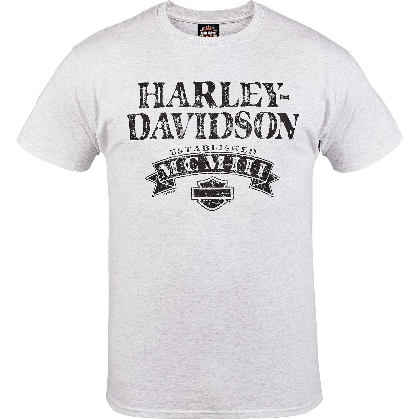 Harley-Davidson Military - Men's Ash Short-Sleeve Graphic T-Shirt - Aviano Air Base | Numeral Name