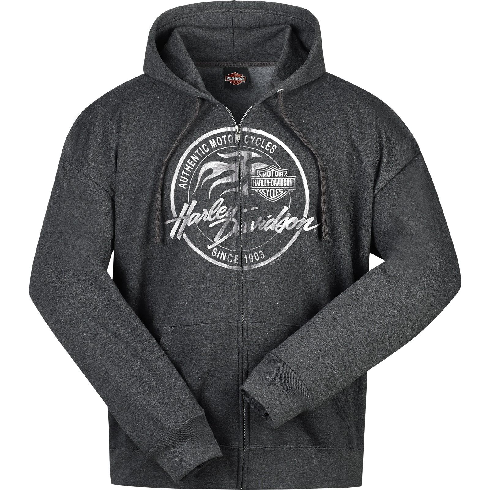 Men's Charcoal Heather Hooded Zippered Sweatshirt - Overseas Tour   Paint Logo