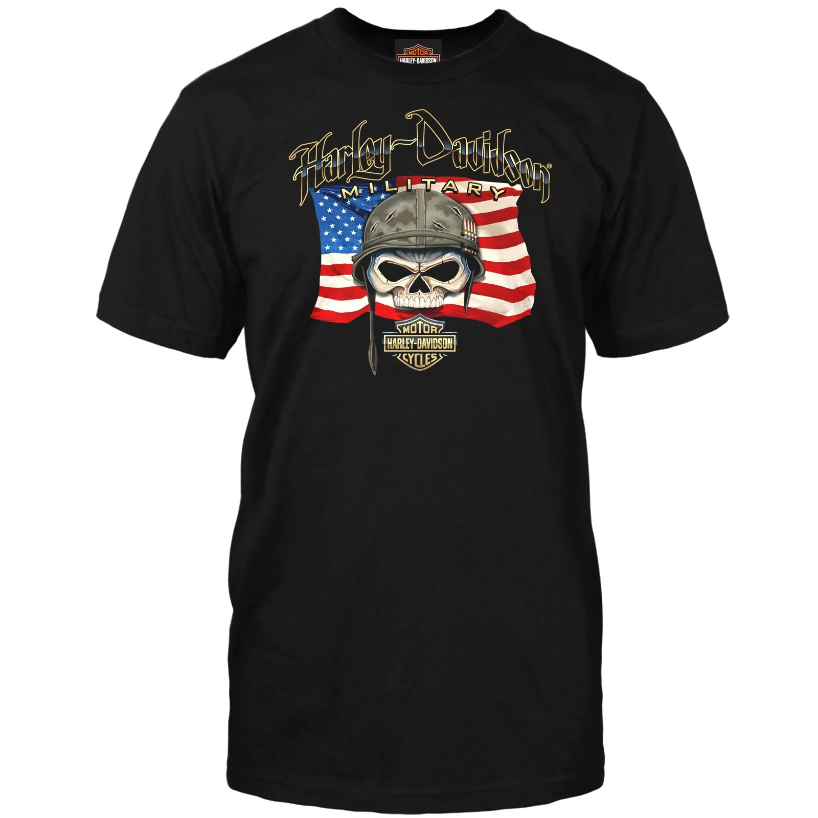 Men's Black Graphic T-Shirt | Overseas Tour - Willie G Flag
