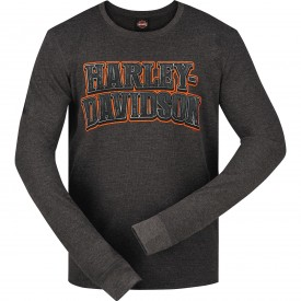 Harley-Davidson Men's Long-Sleeve Lightweight Thermal Shirt - Camp Arifjan | Aged Name