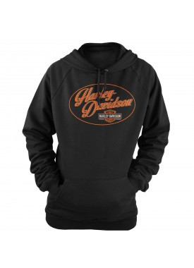 Harley-Davidson Military - Women's Black Graphic Pullover Hooded Sweatshirt - Overseas Tour | Wow
