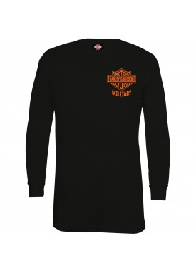 Harley-Davidson Military - Men's Black Bar & Shield Long-Sleeve Thermal Shirt - Overseas Tour