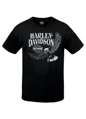 Harley-Davidson Men's Black Short-Sleeve Graphic T-Shirt - RAF Lakenheath | Retro Vibe