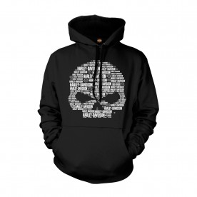 Harley-Davidson Military Graphic Pullover Hoodie Sweatshirt - Overseas Tour | Text Skull