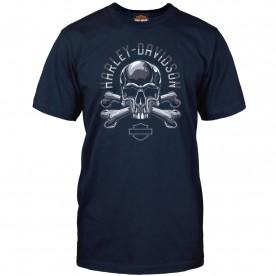 Harley-Davidson Military - Men's Navy Skull Graphic T-Shirt - Camp Arifjan | Adversary