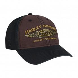 Harley-Davidson Men's Black/Brown/Gold Graphic Ballcap - Overseas Tour | Highest Performance