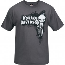 Harley-Davidson Men's Short-Sleeve Smoke Grey Graphic T-Shirt - Bagram Air Base | Can Be Bad