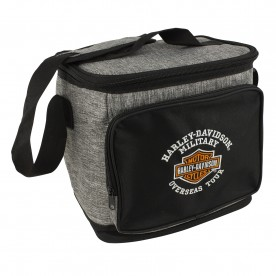 Harley-Davidson Military - Grey Fabric 12-Pack Cooler Bag with Cushioned Shoulder Strap | Overseas Tour