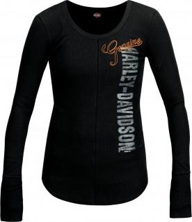 Women's Black Graphic Scoop Neck T-Shirt with Thumbholes - Al Udeid Air Base   Genuine Seam