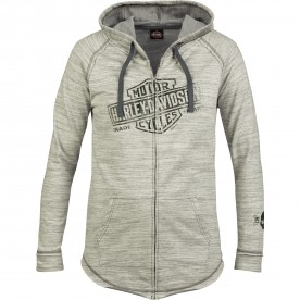 Harley-Davidson Women's French Terry Hooded Zip Jacket - Overseas Tour   Relic