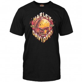 Harley-Davidson Military - Men's Black Skull Graphic T-Shirt - Camp Leatherneck | Rust Bucket