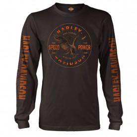 Harley-Davidson Men's Long-Sleeve Graphic T-Shirt - USAG Wiesbaden | Show Me
