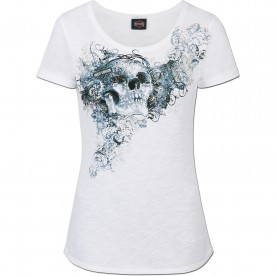 Harley-Davidson Women's Slub Scoop Neck T-Shirt - USAG Stuttgart | Sparkle (MADE IN USA)