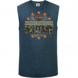 Harley-Davidson Military Men's Sleeveless T-Shirt - Overseas Tour | Military Stars
