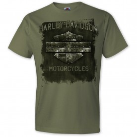 Harley-Davidson Military - Men's Prairie Green Graphic T-Shirt - USAG Grafenwohr | Steel Life