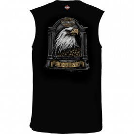 Harley-Davidson Men's Sleeveless Graphic T-Shirt - USAG Stuttgart | Stone Feathers