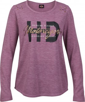 Women's Dark Purple Graphic Ribbed Shirt with Foil and X-Stitch - Kadena Air Base   Tact