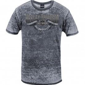 Harley-Davidson Men's Short-Sleeve Burnout Washed Graphic T-Shirt - NSA Naples | Timeless Wave