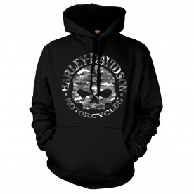 Harley-Davidson Men's Graphic Pullover Hoodie - Kadena Air Base | Try To Find Me