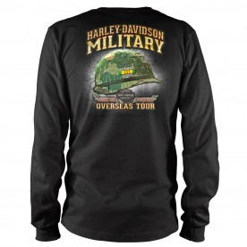 Harley-Davidson Military Bar & Shield Vietnam Veterans - Black Long-Sleeve T-shirt