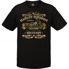 Men's Black Vintage Motorcycle Graphic T-Shirt - Overseas Tour | War Bike